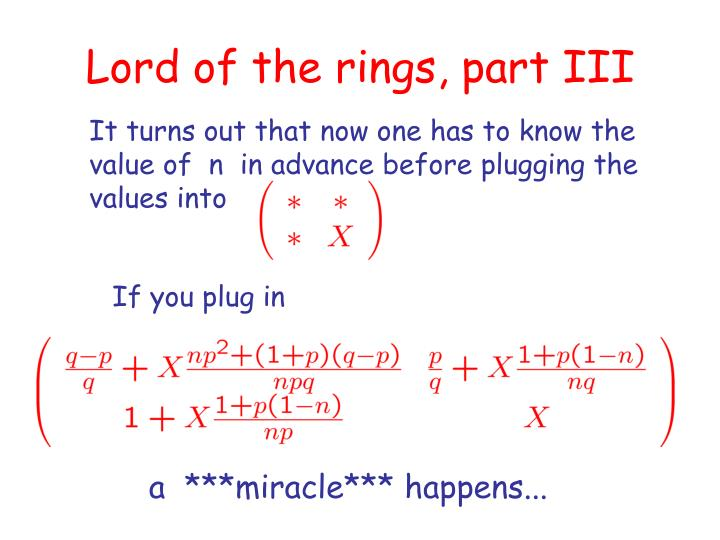 Lord of the rings, part III