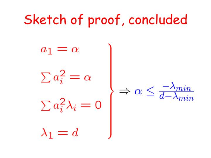 Sketch of proof, concluded