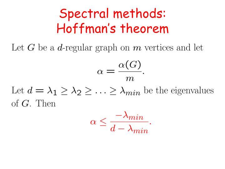 Spectral methods: