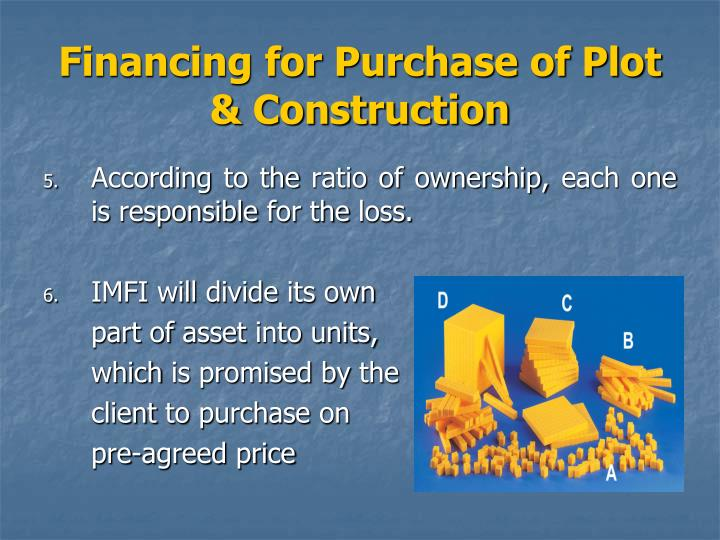loan for the purchase of a plot