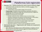 plataformas sub regionales