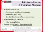 principales cuencas hidrogr ficas afectadas