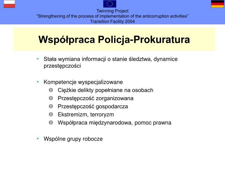 Współpraca Policja-Prokuratura