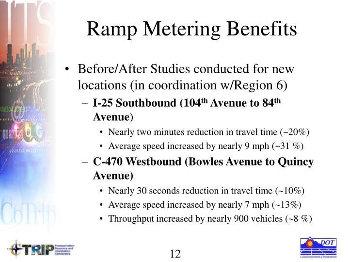 Ramp Metering Benefits