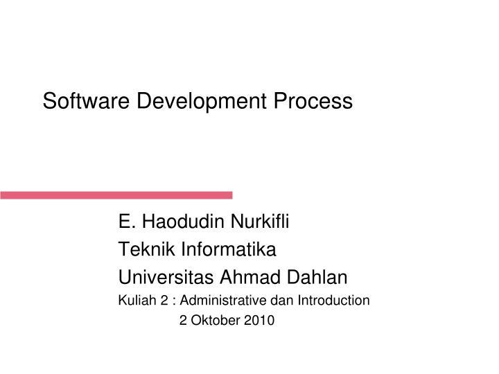 software development process n.