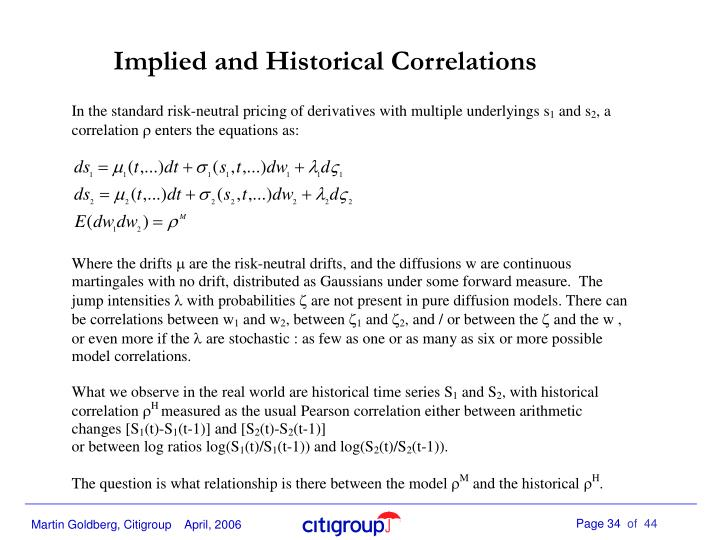 Implied and Historical Correlations
