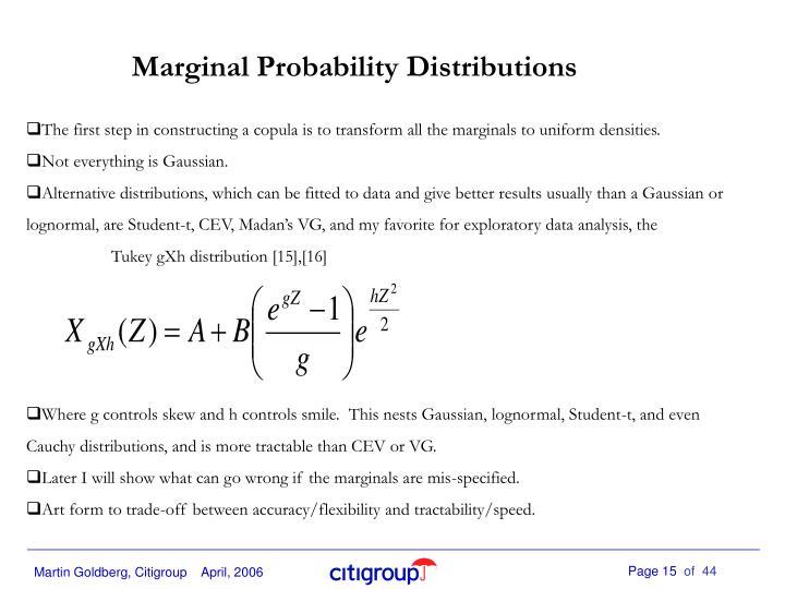 Marginal Probability Distributions