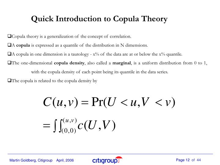 Quick Introduction to Copula Theory