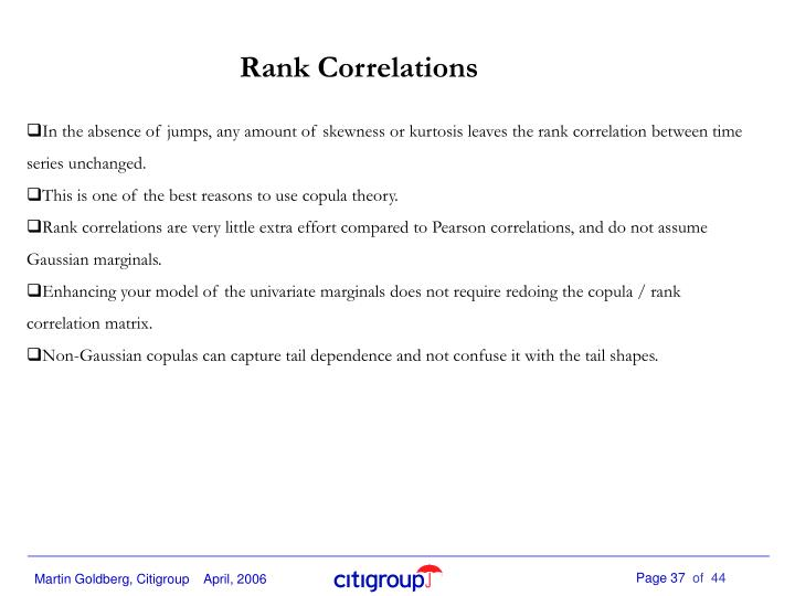 Rank Correlations
