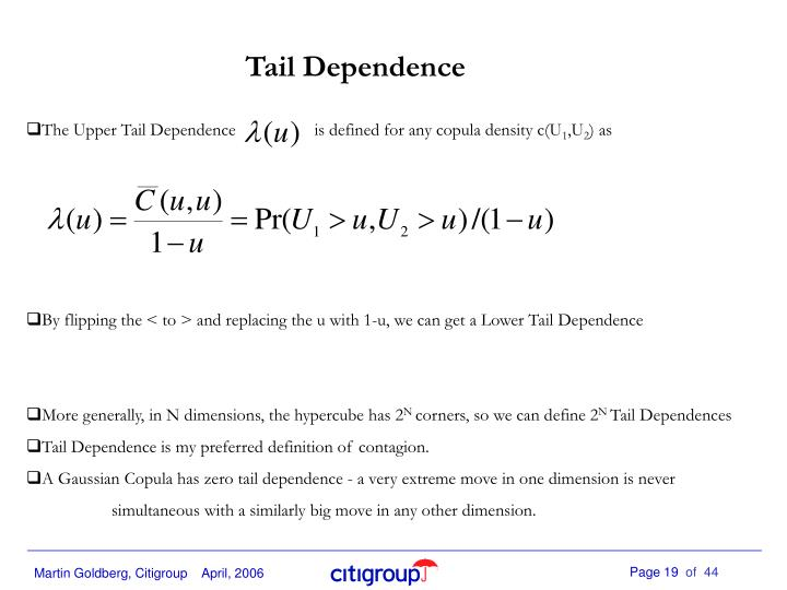 Tail Dependence