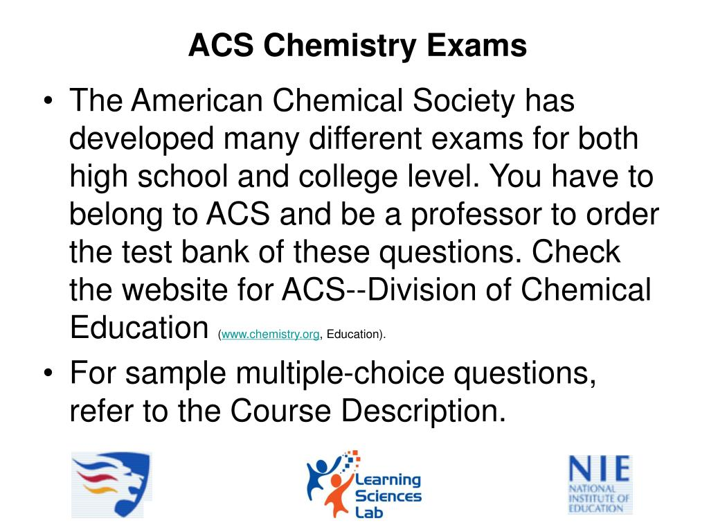 PPT - Chemistry College Entrance Exams in Several Countries