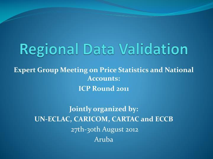 regional data validation n.