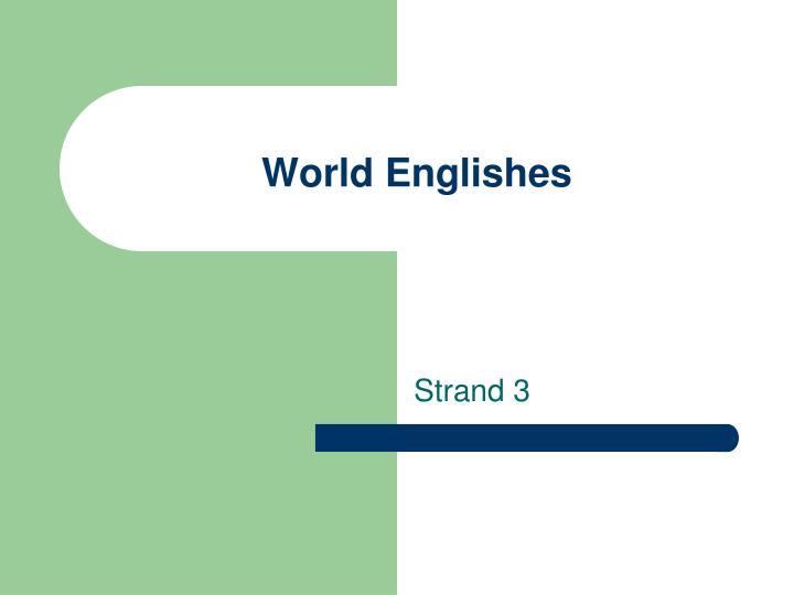world englishes n.