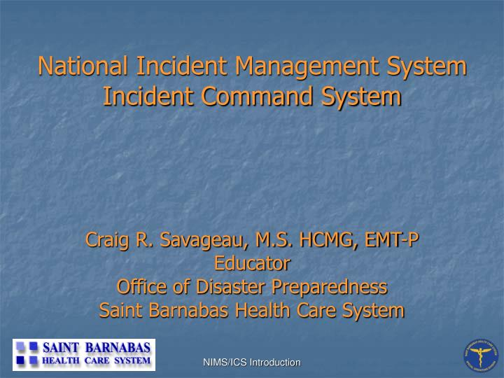 Ppt National Incident Management System Incident Command System Powerpoint Presentation Id 3431840