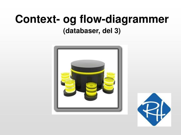Context og flow diagrammer databaser del 3