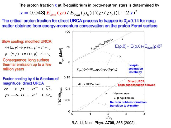 The proton fraction