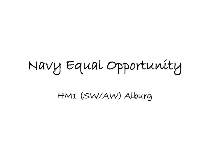 navy equal opportunity n.