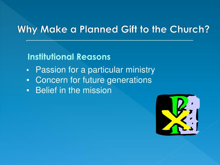 Institutional Reasons