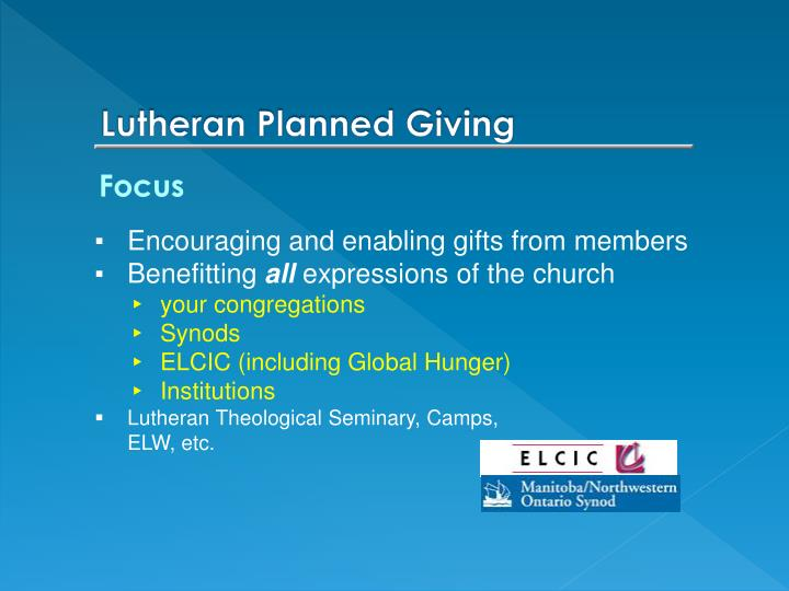 Lutheran Planned Giving