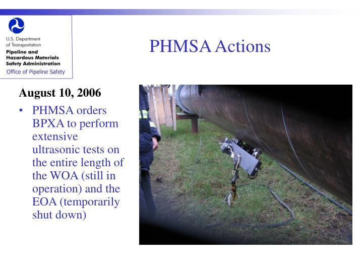 PHMSA Actions