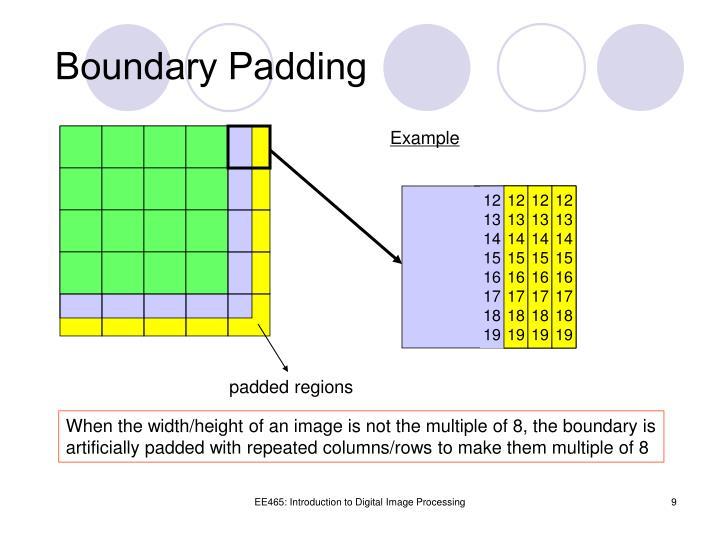 Boundary Padding