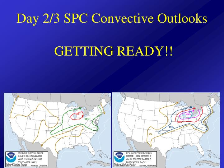 Day 2 3 spc convective outlooks getting ready