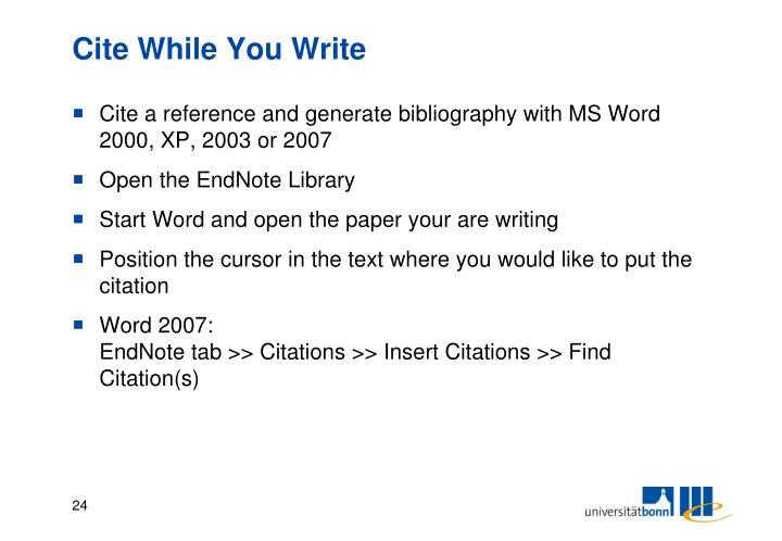 Cite While You Write