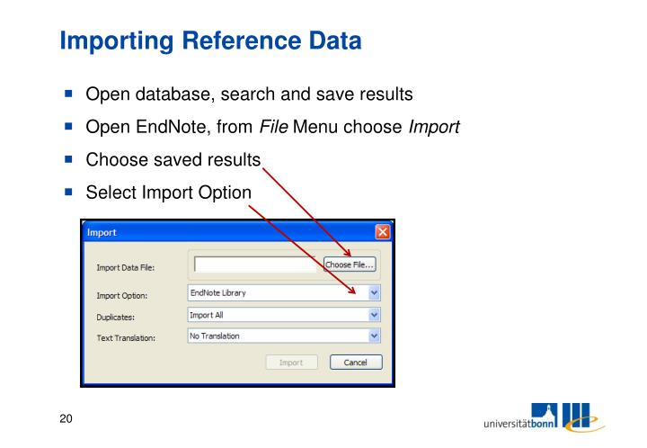 Importing Reference Data