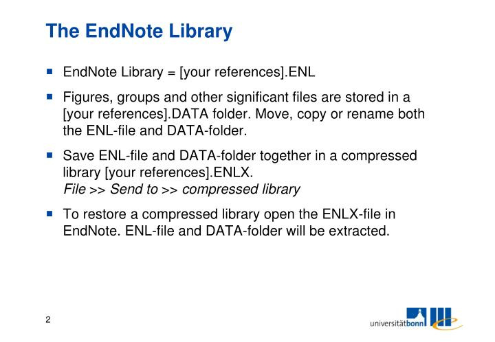 The endnote library