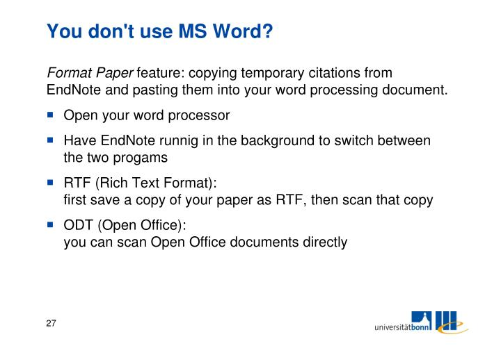 You don't use MS Word?