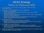 ecac strategy policy for reducing ndb