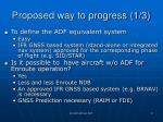proposed way to progress 1 3