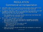 regulation commercial air transportation