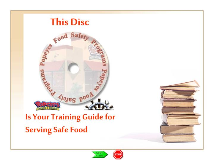 PPT Is Your Training Guide For Serving Safe Food