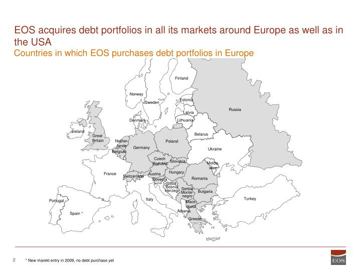 Eos acquires debt portfolios in all its markets around europe as well as in the usa