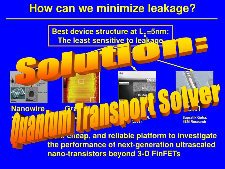 How can we minimize leakage?