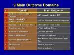 9 main outcome domains