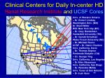 clinical centers for daily in center hd renal research institute and ucsf cores
