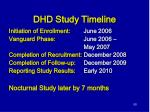 dhd study timeline
