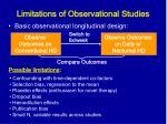 limitations of observational studies