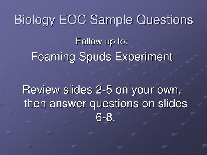 biology eoc sample questions n.