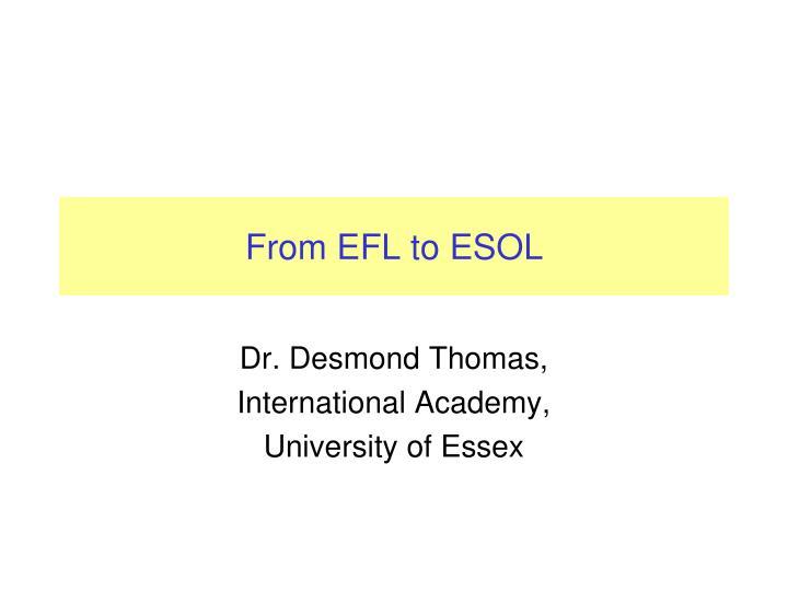 from efl to esol n.