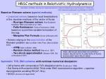 hrsc methods in relativistic hydrodynamics