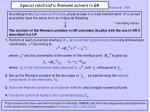 special relativistic riemann solvers in gr