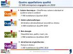 quatre appellations qualit 12 500 entreprises engag es en 2010