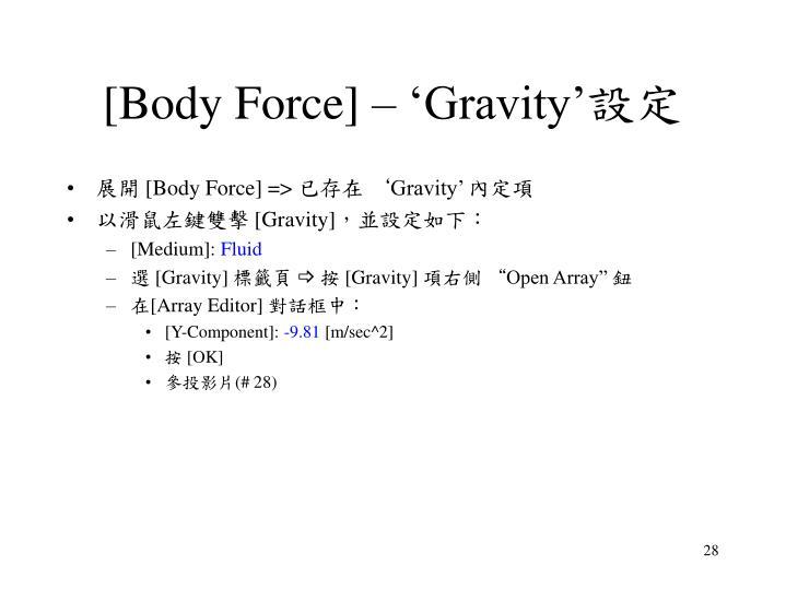 [Body Force] – 'Gravity'
