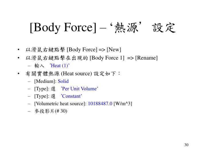 [Body Force] – '