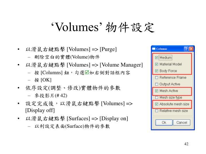 'Volumes'
