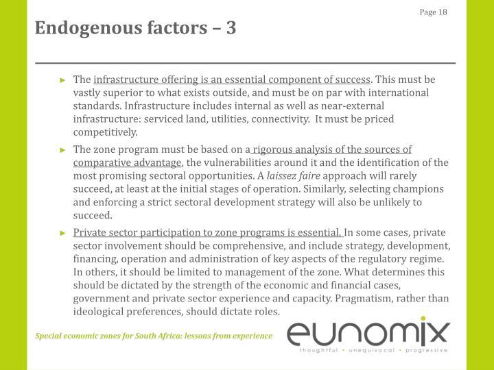 Endogenous factors – 3