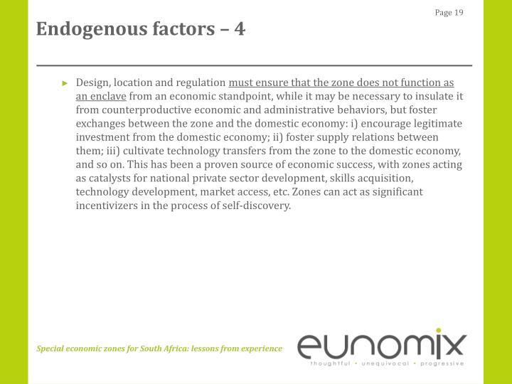 Endogenous factors – 4